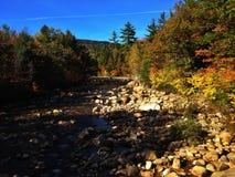 Snabb flodNew Hampshire nedgång Royaltyfria Bilder