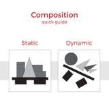 Snabb handbokillustration för sammansättning Vektor Illustrationer
