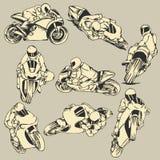 Snabb handling för motorcykel Fotografering för Bildbyråer