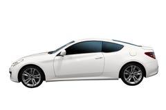 snabb isolerad white för bil Arkivbilder