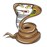 Snabb kobraormmaskot Arkivfoto