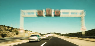 snabb lane Arkivfoton