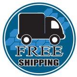 Snabb lastbil för fri leverans Arkivfoton