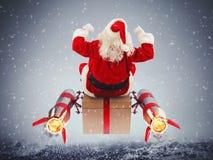 Snabb leverans av julgåvor Arkivbilder