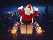 Snabb leverans av julgåvor Fotografering för Bildbyråer
