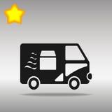 Snabb leveransillustration för skåpbil Vektor Illustrationer