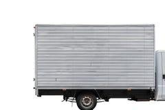 Snabb leveranslastbil som isoleras på vit Royaltyfria Foton