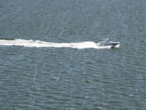 Snabb motorbåt Charleston Harbor South Carolina 2 Royaltyfria Bilder