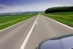 snabb moving väg för bil Fotografering för Bildbyråer