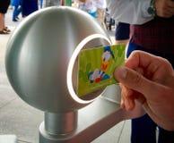 Snabb passerandebiljett på den Disney världen Fotografering för Bildbyråer
