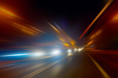 Snabb rörelse på natten Arkivfoton