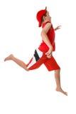 snabb running för barn Arkivfoto