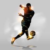 Snabb skytte för abstrakt fotboll Arkivbilder