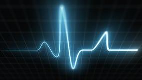 Snabb stiliserad EKG, blått royaltyfri illustrationer