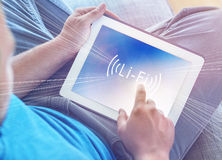 Snabb trådlös anslutning Li-Fi Royaltyfria Foton