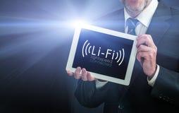 Snabb trådlös anslutning Li-Fi Fotografering för Bildbyråer