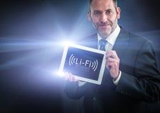 Snabb trådlös anslutning Li-Fi Arkivbild