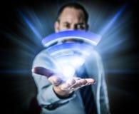 Snabb trådlös anslutning Li-Fi Arkivbilder