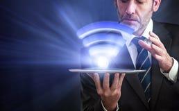 Snabb trådlös anslutning Li-Fi Arkivfoton