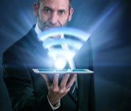 Snabb trådlös anslutning Li-Fi Royaltyfri Bild