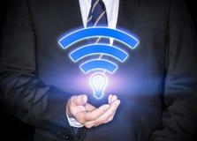 Snabb trådlös anslutning Li-Fi Royaltyfri Fotografi