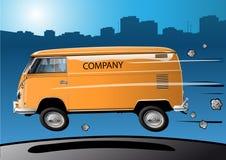 snabb transporter volkswagen stock illustrationer