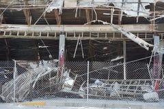Snabb turbyggnad i Ferguson, MO Arkivbilder