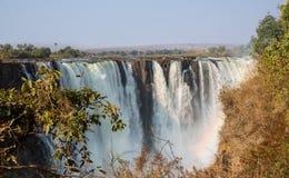 Snabb Victoria Falls för slutarehastighet sikt arkivbilder