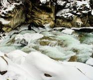 Snabb vinterflod Fotografering för Bildbyråer