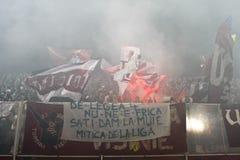 Snabba Bucharest fotbollventilatorer Fotografering för Bildbyråer