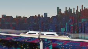 Snabba flyttningar för passageraredrev i en glass tunnel arkivfilmer