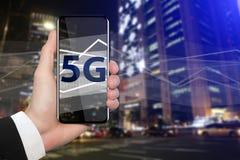 Snabbast mobil internet 5G för världs` s Arkivfoto