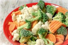 Snabbfryste grönsaker behåller alla vitaminer, mineraler Royaltyfri Fotografi
