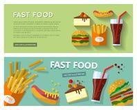 Snabbmat äter Arkivfoto