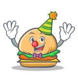 Snabbmat för clownhamburgaretecken Royaltyfria Bilder