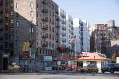 Snabbmatsrestaurang i Manhattan New York USA Arkivfoto