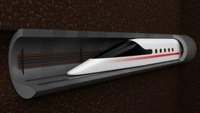 snabbt drev begreppsdesign för tunnelteknologi för magnetisk svävning och vakuum illustration 3d royaltyfri illustrationer