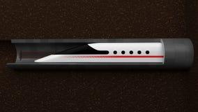 snabbt drev begreppsdesign för tunnelteknologi för magnetisk svävning och vakuum illustration 3d stock illustrationer