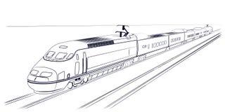 Snabbt drev för passagerare royaltyfri illustrationer