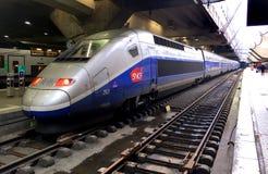 Snabbt drev för TGV Arkivfoton