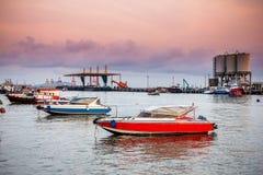 Snabbt fartyg i havet Royaltyfri Foto