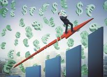 Snabbt finansiellt tillväxtbegrepp Arkivfoton