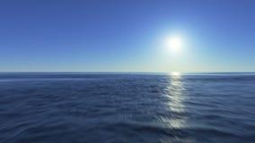 Snabbt flyg över yttersidan av havet lager videofilmer