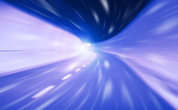 Snabbt lopp för abstrakt tunnel Fotografering för Bildbyråer