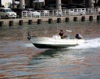 Snabbt motoriskt fartyg Royaltyfri Foto