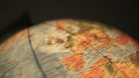 Snabbt roterande jordjordklot stock video