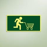Snabbt shoppingtecken Royaltyfria Foton