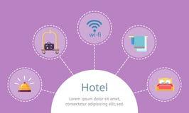 Snabbt tillträde för hotellservice på Websitemall vektor illustrationer
