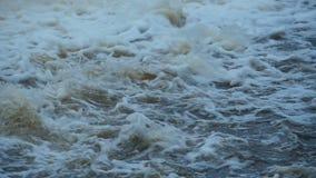 Snabbt vitt vatten stock video