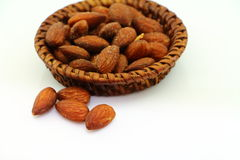 Snack almonds Stock Images